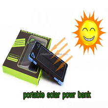 8000mAh Solar Power Solar Power Bank Portable Solar Phone Charger