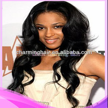 Stock!! 100% virgin Brazilian human hair middle part full lace & lace front wigs for women free shipping by UPS or DHL.