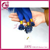 Yongest Girl like micro ring straight hair supply wholesale No.1 i tip u tip sale hair nobel diamond blue color beauty