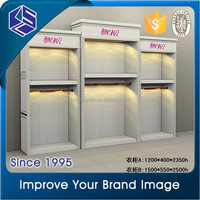Hot design wall mount MDF cloth display stand/Good quality free standing display rack