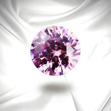 Exquisite Packing Round Shape Facet Cut 6mm CZ Gem, Artificial Stone Wuzhou Gemstone