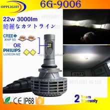 g6 car led headlight h7 led headlight no fan H4 led bulb headlight hi lo beam for moto