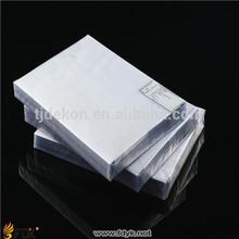 claro pvc láminas de plástico