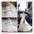 elegant половина рукав свадебное платье атласные кружева свадебное платье китай