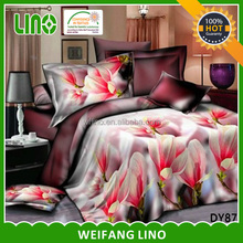 red rose flowers 3d bed cover set turkish cushion covers curtains with matching bedding
