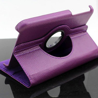 Purple Leather Case for Samsung Ipad Tablet N5100