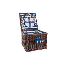 Picnic And Beyond Veranda Collection Willow Basket Dinnerware Set