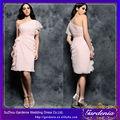 de color rosa de un hombro chifón baratos al por mayor de moda nueva occidentales vestidos de dama de honor