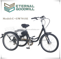 CE electric tricycle adult electric tricycle electric tricycle for handicapped cargo bike 7015E