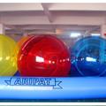 Barato 0.9 mm PVC tamanho grande insufláveis gigantes piscinas água bola inflável