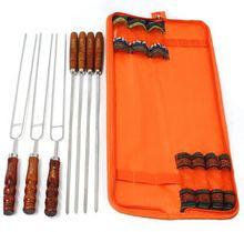 Korean style stainless steel bbq skewer lower price bamboo skewer