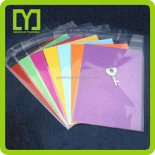 2015 new product in China wholesale exports goods opp header plastic bag packaging birthday greeting card