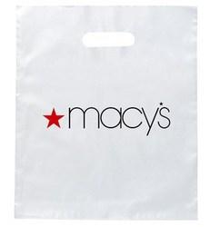 Cheap Wholesale Die Cut Punch Custom Printed Plastic Shopping Bag