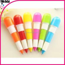 2015 Cute Capsule Pill Shape Plastic Ballpoint Pen hot-selling plastic ballpoint pill pen