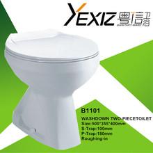 B1101 ceramic toilet factory washdown two piece toilet bowl