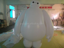 big hero6 cartoon inflatable robot Baymax white fat doll for advertising