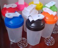 Eco-friendly Nice Design Protein Drink Shaker Cup with Wire Wisk Ball