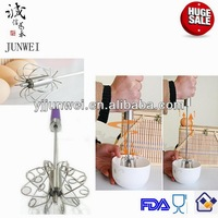 Stainless steel rotary cake beater
