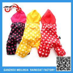 OEM Cat Dog Raincoat/ Polka Dot Waterproof Cat Dog Cloth