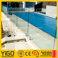 glass fence with metal post&pool safety fence