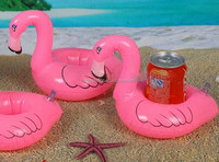 PVC Pink Flamingo Water Drink Holder Inflatable Toys