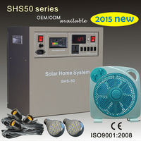 2015 new small solar energy products 50W 100W with solar fans