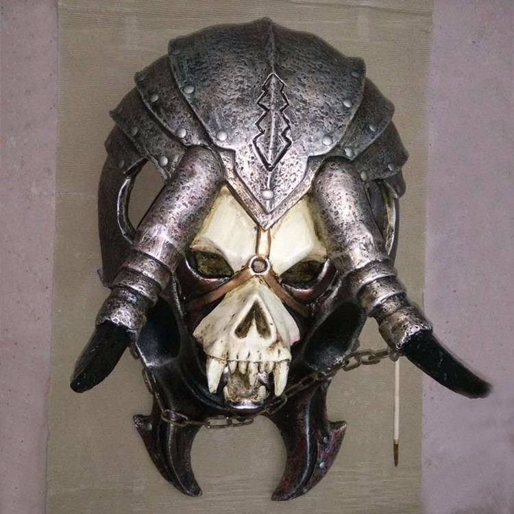 WOW world of warcraft life size resin Orcish head skull for collection