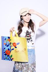 Flower print PP woven bag/decorative reusable bags