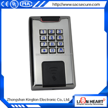 alibaba stainless steel waterproof access control keypad