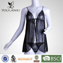 Made in China Exquisite Lace Transprent Lingerie Plus Size