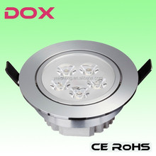 Internal driver recessed 3000-6500k cool white 5*1W led downlight with CE RoHS