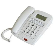 Botón grande con cable de teléfono con identificador de llamadas para Eld personas ciegas