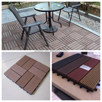 Garden Swimming pool decoration DIY decking 310*310mm / WPC interlocking decking tiles