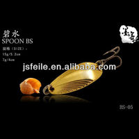 15G gold Flight New Style Zinc Spoon&Spinner spoon electronic lures