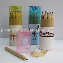12pcs sharpener natural wooden color pencil for promotion