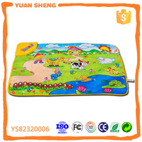 Baby Favorite Toy Musical Carpet With Animal Design Musical Mat For Kids Music Game Carpet Padded Baby Play Mat