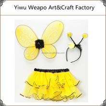 Ingrosso a buon mercato per bambini giallo partito decorare bw-295 ali delle api