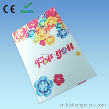 Good quality kids birthday souvenirs greeting card sound chip models of wedding cards