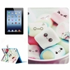 Lovely Marshmallow Pattern Flip PU Leather Case for iPad 4 with Card Slots