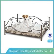 Wholesale Pet Dog Bed Customized Handmade Metal Frame Dog Bed