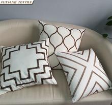 Embroidered Kinds Of Geometric Fingure Sofa Home Decor Cushion Cover
