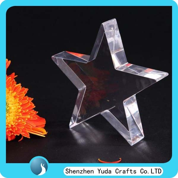 Laser cut acrylic craft block crystal like star shape for Plastic blocks for crafts