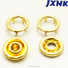 gold ring prong snap button children clothing snap faseners