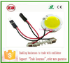 led car dome light festoon COB Round Reading light with T10 feston adapter,led car interior light