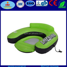 Inflatable Lounge River Float, Inflatable U Shape float lounger, Inflatable Mesh Seat Pool float lounger