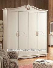 4-door wardrobe (625) white color