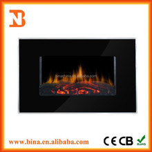 2015 Wall mounted electric fireplace heater with LED light