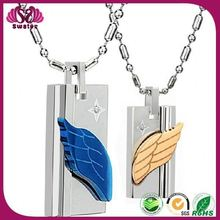 Lovers new design initial Angel Wing Couple Necklace