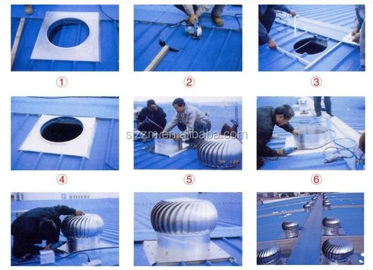 pouss e par le vent puissance air turbine toit ventilateur de circulation pour usine syst me cvc. Black Bedroom Furniture Sets. Home Design Ideas