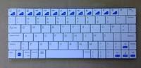 mini rechargable metal wireless bluetooth3.0 keyboard for ipad iphone samsung